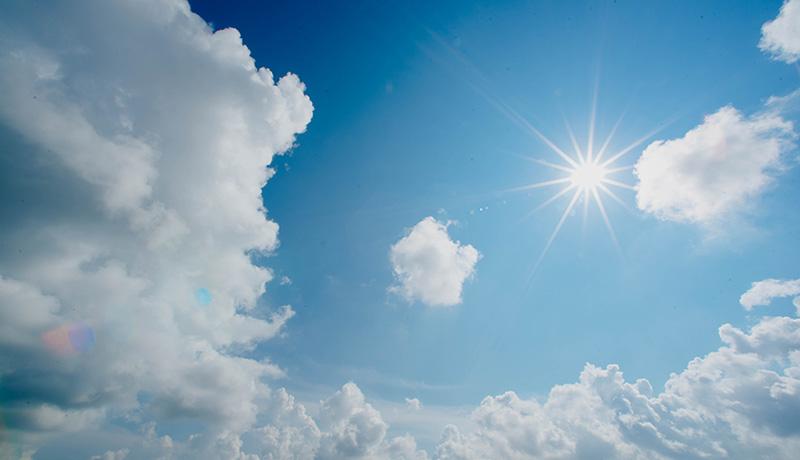 Besprechen von Krankheiten - Himmel mit Sonne